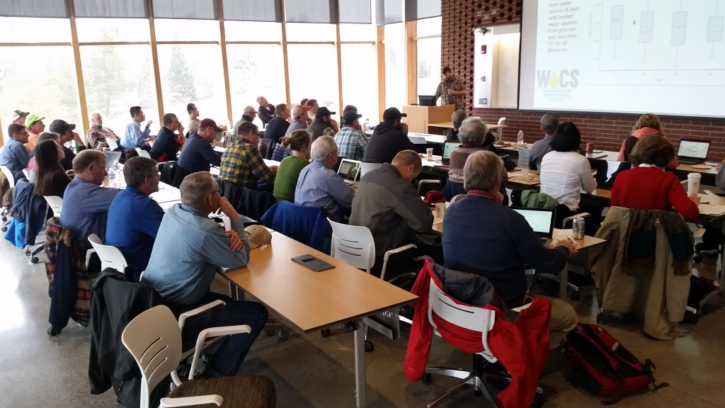 Ely Walker presenting at the 2017 Annual WOCS Meeting in Pullman.